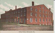 Early 1900's The Libby Prison in Richmond, VA Virginia PC