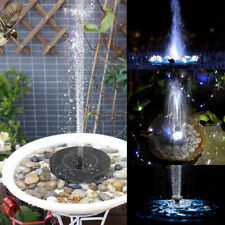 Solar Power Bird Bath Water Fountain Pump LED Light Floating Garden Pool
