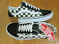 Vans Womens Old Skool Gum Block Checkerboard shoes Black White Size 9.5 NWT