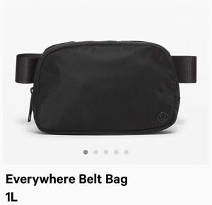 New Lululemon Everywhere Belt Bag Black Fanny Pack Classic Nylon