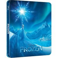 Frozen (4k Ultra HD Blu-ray/Blu-ray/Digital, 2019) Brand New Steelbook