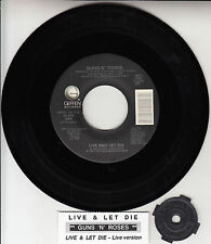 """GUNS N' ROSES Live And Let Die 7"""" 45 rpm 7"""" NEW record + juke box title strip"""