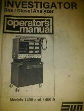 sun electric investagator engine analyzer user manual pdf computer cd