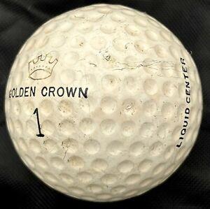VINTAGE Golf Ball GOLDEN CROWN Liquid Center HY Compression Rare Scarce Specimen