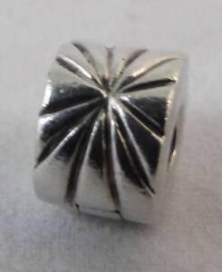 Authentic Danish 925 ALE Pandora Silver Firework Sunburst Clip 790210