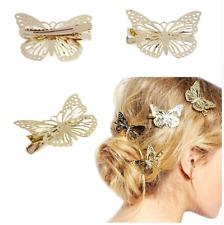 Metal Hair Clips For Girls Women Golden Butterfly Headband Hair Accessory Pin