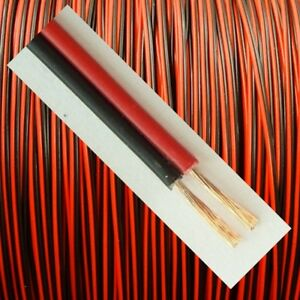 20m Schwarz Rot LiYz 2x0,14mm² Kabel Litze Zwillingslitze 2-adrig Modellbau