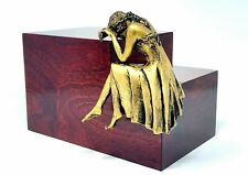 Artistic Weeping Lady Large Cremation Urn, Adult Funeral Urns for Ashes Angel