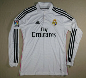 REAL MADRID Gareth Bale #11 2014 Adidas Original Football Soccer L/S Jersey L