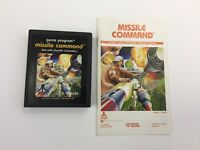 Atari 2600 Missle Command Game With Manual Tested & Works