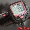 LCD Computer Bike Bicycle Cycling Odometer Speed Speedometer Waterproof USA