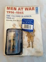 Del Prado men at war issue 31 The Italians in Africa 1940-43 - Private, 31st Ass