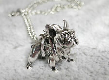Silver Pug Bulldog Dog Necklace for Women lovely Puppy Bull Dog Fashion Jewelry