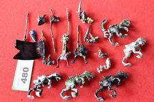Juegos taller Warhammer elfos oscuros fría Caballeros Elf Army Lote De Repuestos De Metal