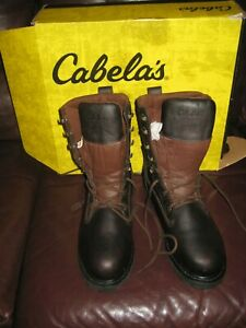 MENS CABELA'S LEATHER BOOTS 10.5 800 GRAM HUNTING BOOTS GORE-TEX THINSULTATE