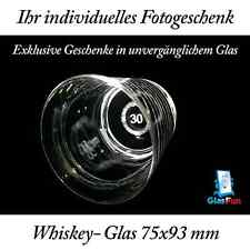2D Whiskey-Glas Quader Kristall Geschenk Foto Graviert Glasfun 75x93 mm