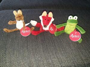 Sigikid Fingerpuppen 3 Stück neu original Frosch Fuchs Eichhörnchen