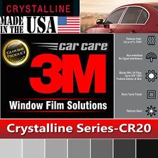 "3M Crystalline 20% VLT Automotive Car Window Tint Film Roll Size 30"" x  70"" CR20"