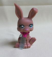 POLLY POCKET - SPARKLIN' PETS MATTEL #80 LAPIN MARRON YEUX BLEU COLLIER VIOLET