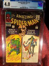 Amazing Spiderman 37 CGC graded 4.0 First Norman Osborne