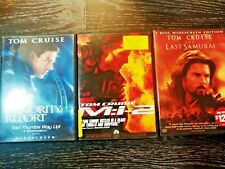 New listing Tom Cruise Lot Dvd of 3: Minority Report, Last Samurai, Mission Impossible 2