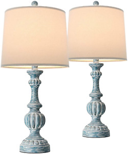 """Oneach Traditional Table Lamps for Living Room 24.5"""" Bedside Nightstand Lamp F"""