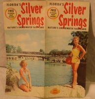 vintage Silver Springs Florida foldout brochure, cheesecake, sexy girls