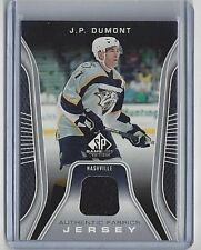 2006-07 J.P. DUMONT UPPER DECK SP GAME USED AUTHENTIC FABRICS JERSEY CARD #AF-JO