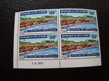 COTE D IVOIRE - timbre yvert et tellier aerien n ° 50 x4 n** (Z7) stamp