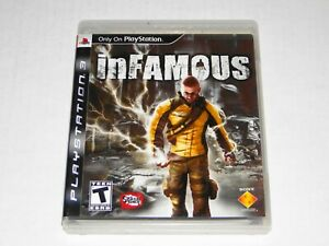 PS3  INFAMOUS 100% COMPLETE MANUAL VERY GOOD CIB BLACK LABEL