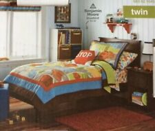 New Circo 2 Pc Around Town 100% Cotton Twin Quilt Set - Quilt & Sham Trucks Cars
