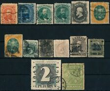 BRAZIL, 14 UNCHECKED CLASSIC USED STAMPS WITH DIFF. POSTMARKS, SEE...  #A789