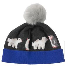 Cath Kidston Polar Bear Knitted Hat Christmas Xmas Winter Women's Woolly Hat New
