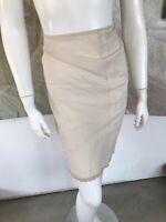 Vintage Character Nylon Cream Ecru Slip Skirt (A14) Size Small