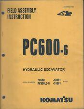 Equipment Manual - Komatsu - Pc600-6 - Excavator - Field Assembly - 1999 (E4287)