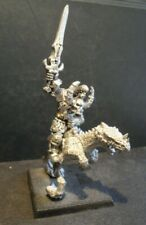 Warhammer Fantasy Archaon Lord of Chaos on Cold One.  Metal OOP