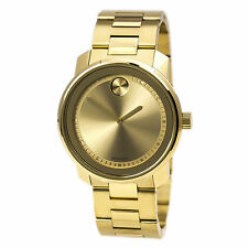 New Movado Bold Large 42.5mm Unisex Gold Ion Plated Watch 3600258