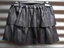 Moonbasa Women's Short Skirt PU - Poly Stretch Waist Size Small