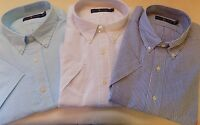 NWT Ralph Lauren WHITE, or BLUE Seersucker Button Short Sleeve Shirt Big & Tall