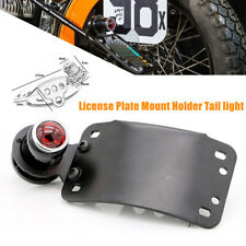 Motorcycle License Plate Mount Holder Bracket LED Brake Red Tail Light Universal