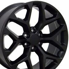 """22"""" Matte Black 2015 CK156 GMC Wheel Denali Chevy Silverado Tahoe Escalade Rim"""