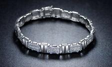 Sevil 18K White Gold Plated Belt Bracelet Made With Swarovski Elements 7.5
