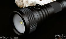WILCOMP DIV08V Scuba Dive Torch for Underwater Photography Video 1050Lm