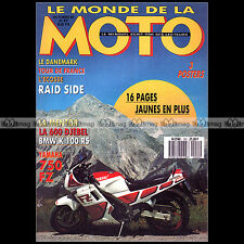 LE MONDE DE LA MOTO N°151-b BENELLI 900 SEI BMW R25 K100 RS SUZUKI DR 600 DJEBEL