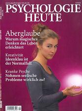 PSYCHOLOGIE HEUTE Heft 1, Januar 2013: Aberglaube +++ wie neu +++
