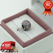 Pandora, Pink Heart Pave Ball Charm 791249CZS