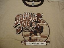Buffalo Joe's Watering Hole Food Restaurant Paris Texas Vacation Brown T Shirt M