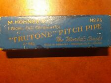 trutone pitch pipe 3 hohner, full chromatique original box 1930'S germany