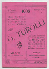 Z996-MILANO 1908-DEPLIAN G.TUROLLI