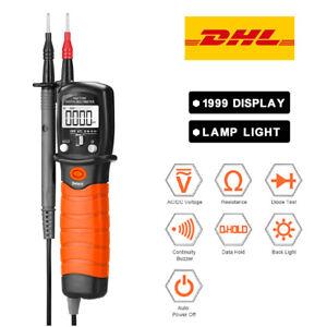 Digital Stift AC DC Multimeter Auto Range LCD Tragbare Profi Voltmeter Messgerät